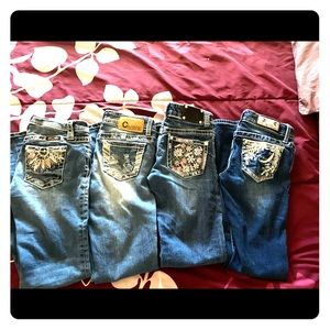 Girls/Kids Miss Me & Other Brand Name Jeans